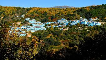 View of Juzcar the Smurf Village